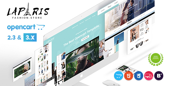 LaParis - Simple Creative Responsive Opencart Theme