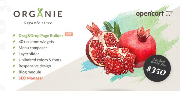 Organie - Organic Store, Farm, Plant & Flower Shop OpenCart Theme