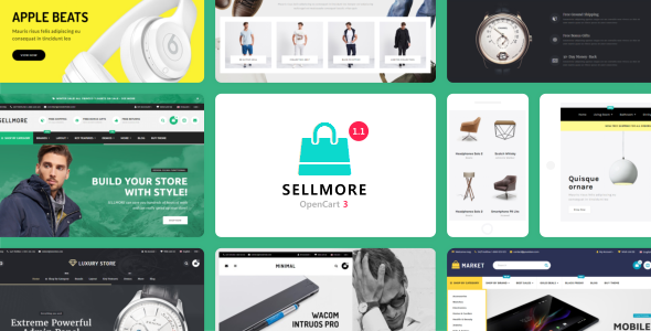 SELLMORE - Highly Customizable Multi-Purpose Opencart 3 Theme