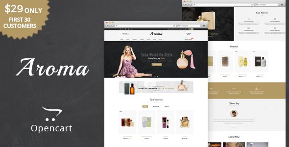 Aroma - The Perfume OpenCart Theme