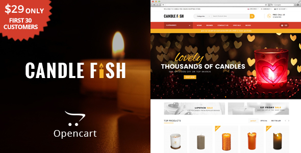 Candle Fish - Multipurpose OpenCart Theme