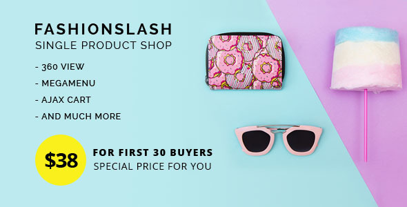 Fashionlash - Responsive Opencart Theme for Single Product Store