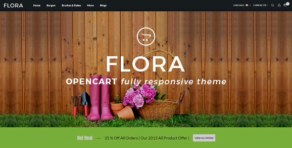 Flora - Multipurpose OpenCart Theme