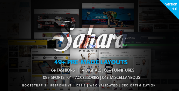 SAHARAN - The Biggest Multipurpose Responsive Opencart Theme