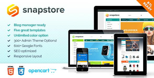 SnapStore - Premium OpenCart Theme