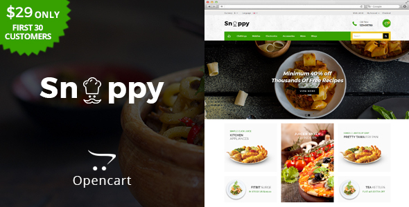 Snappy - Multipurpose OpenCart Theme