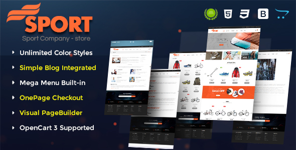 Sport - Multipurpose eCommerce OpenCart 3 Theme