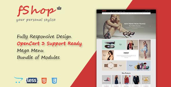 fShop - Advanced Multipurpose Responsive OpenCart 3 Theme