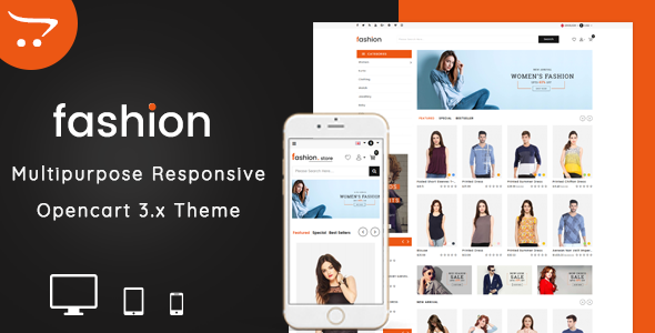Fashion 3.0.X Opencart MultiPurpose Responsive Theme
