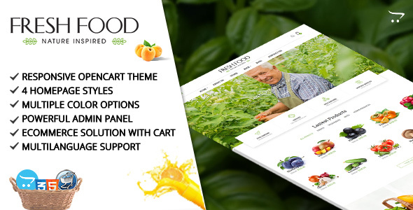 Fresh Food – Opencart Template for Organic Food/Fruit/Vegetables