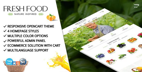 Fresh Food – Opencart Template for Organic Food/Fruit/Vegetables