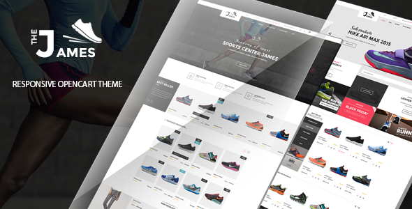 James - Responsive Opencart Shoes Store Theme