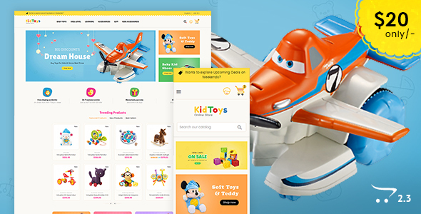 Kid Toys - Opencart Multi Purpose Responsive Theme