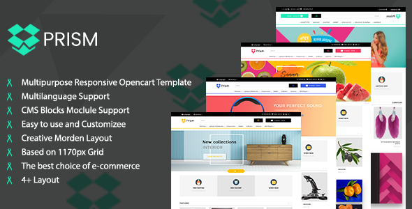 Prism Creative Multipurpose Ecommerce Opencart-3 Theme