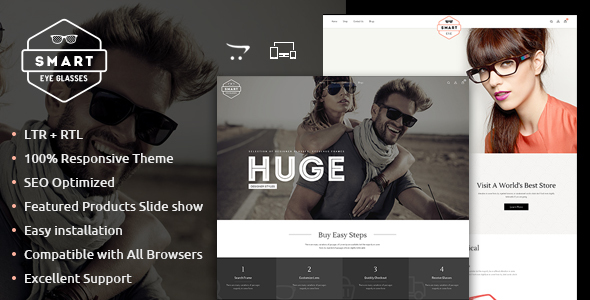 Smart Eye Glasses Responsive OpenCart Theme