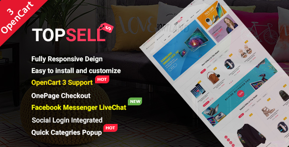 TopSell - Top Multipurpose eCommerce OpenCart 3 Theme