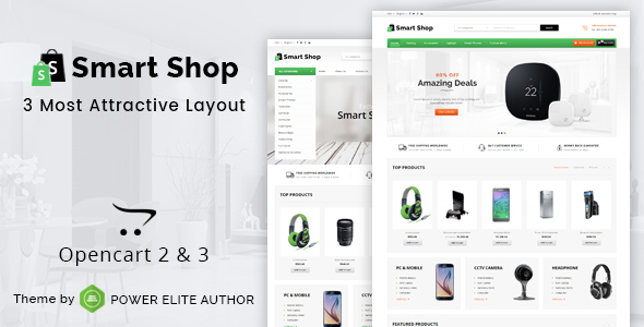 Smart Shop - Multipurpose OpenCart 3 & 2 Theme