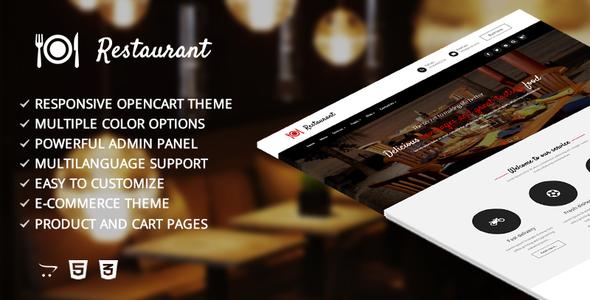 Restaurant – Responsive Opencart Template