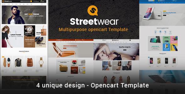 Streetwear - Responsive Multipurpose Opencart Theme