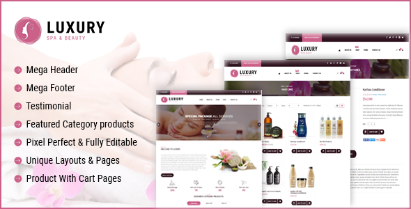 Luxury Spa Beauty OpenCart Theme