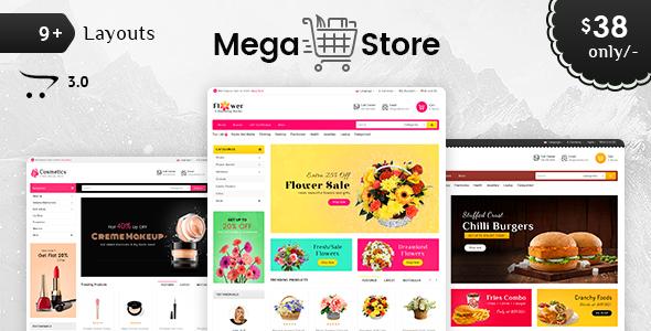 Mega Store - Opencart 3 Multi Purpose Responsive Theme