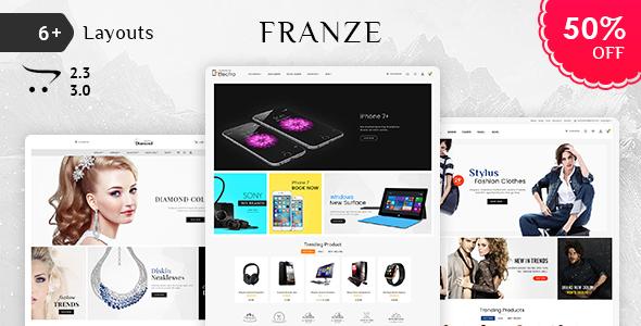 Franze - Opencart 3 Multi-Purpose Responsive Theme
