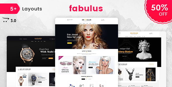 Fabulus - Opencart 3 Multi-Purpose Responsive Theme