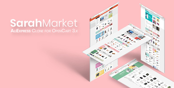 SarahMarket - Large Store OpenCart Theme - AliExpress groceries online shopping mall