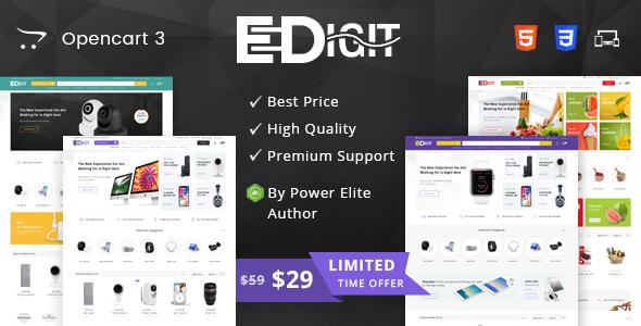 eDigit - Multipurpose OpenCart 3 Theme