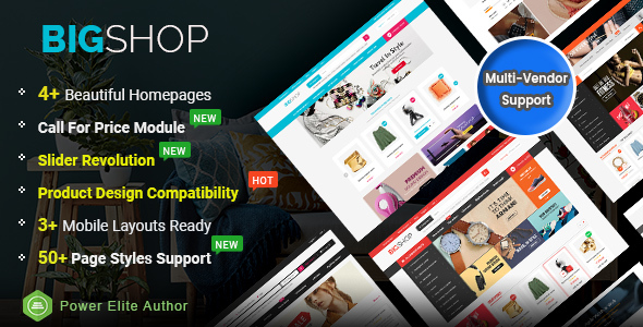 BigShop - High Customizable Responsive OpenCart 3 Marketplace Theme