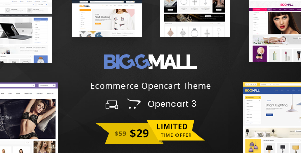 BiggMall - Multipurpose OpenCart 3 Theme