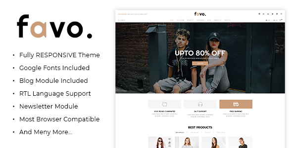 Favo - Multipurpose Responsive Fashion Opencart 3.x Theme