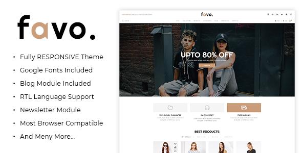 Favo - Multipurpose Responsive Fashion Opencart 3.x Theme