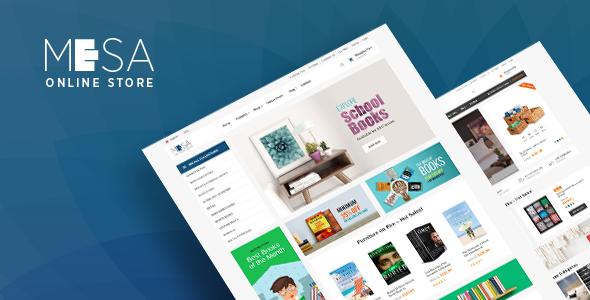 Pav Mesa Book Store Opencart theme