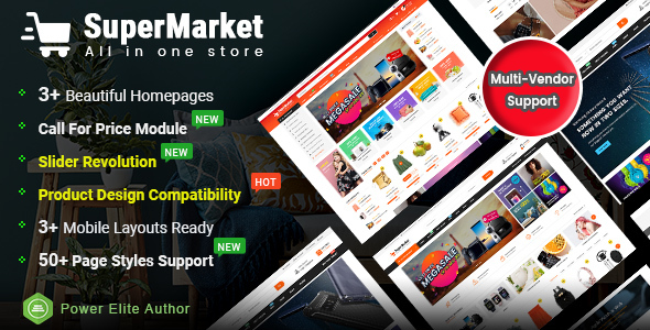 SuperMarket - Multi-purpose Responsive OpenCart 3 Theme (Mobile Layouts Included)