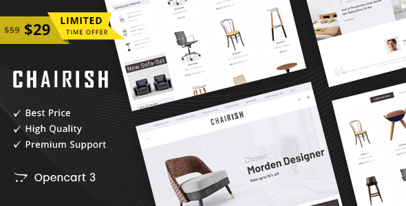 Chairish - Multipurpose OpenCart 3 Theme