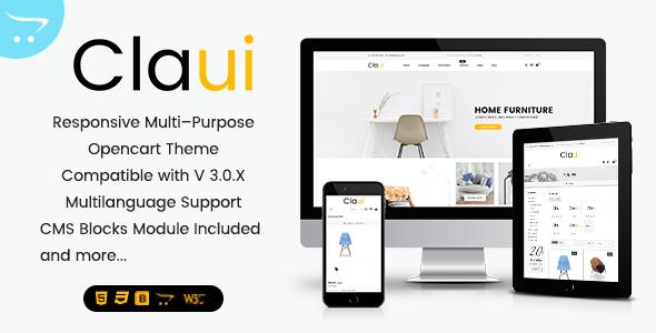 Claui - Responsive Opencart Theme