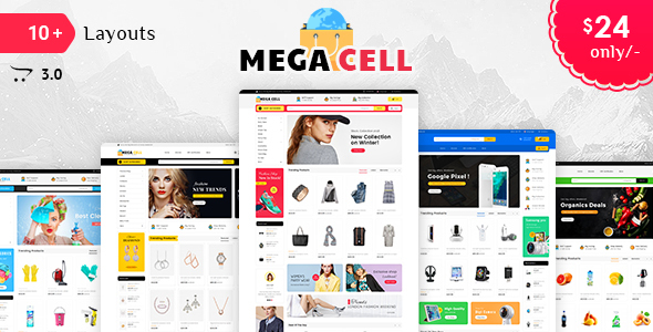 Mega Cell - Opencart 3 Multi-Purpose Responsive Theme