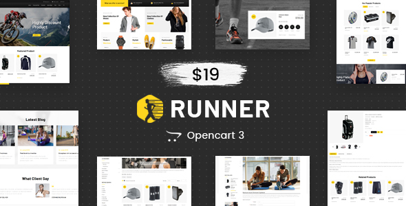 Runner - Multipurpose OpenCart 3 Theme