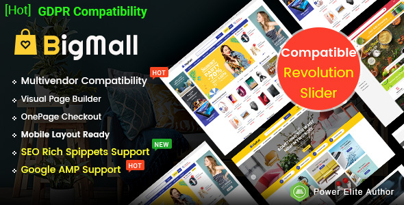 BigMall - Multipurpose OpenCart 3 Theme  with Mobile Layouts ( AMP Google Compatibility)