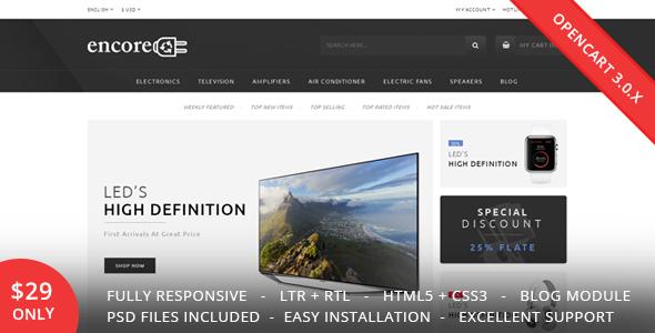 Encore - Electronics OpenCart 3.0.x Theme