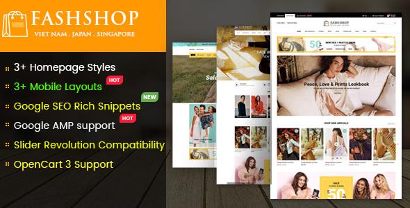 FashShop - Multipurpose Responsive OpenCart 3 Theme