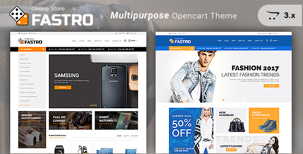 Fastro - Responsive Electronics And Multipurpose Opencart 3.x Theme