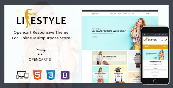 LifeStyle - Multipurpose Opencart Theme