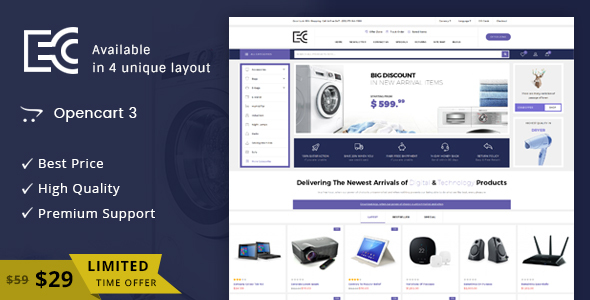 eCode - Multipurpose OpenCart 3 Theme