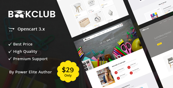 Book Club - Multipurpose OpenCart 3 Theme