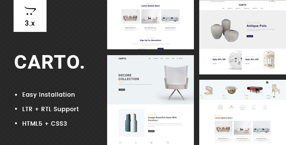Carto - Multipurpose OpenCart 3 Theme
