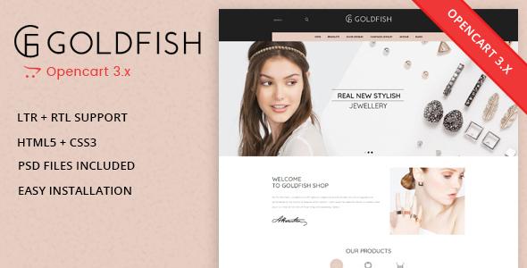Goldfish - Jewellery Responsive Opencart 3.0.x Theme