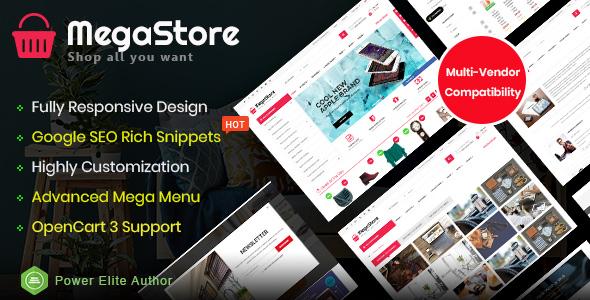 MegaStore - Responsive Supermarket OpenCart 3 Theme