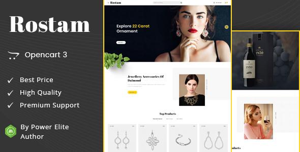 Rostam - Multipurpose OpenCart 3 Theme
